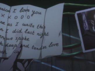 письмо аниме