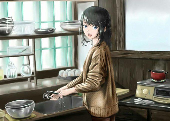 посуда аниме