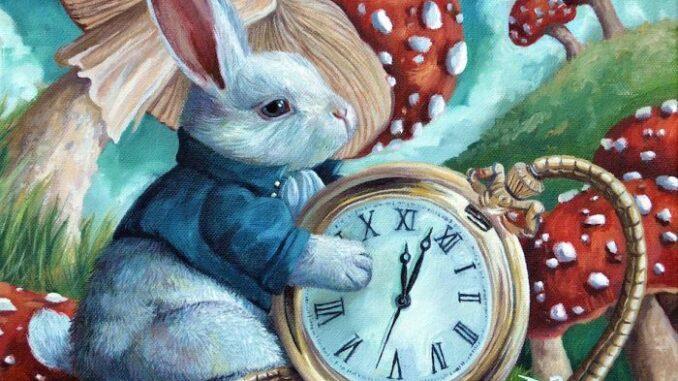 кролик и часы